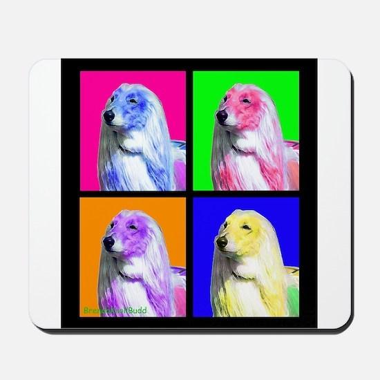 Afghan Hound Pup Art Mousepad
