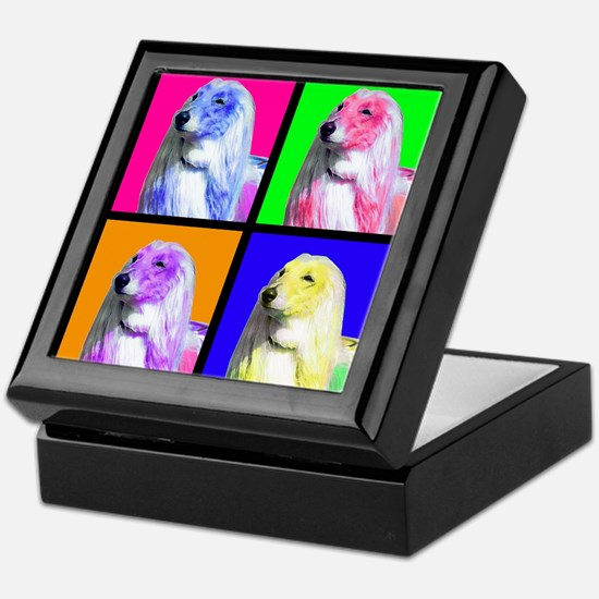 Afghan Hound Pup Art Keepsake Box