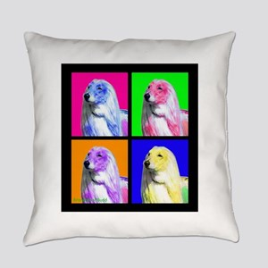 Afghan Hound Pup Art Everyday Pillow