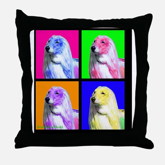 Afghan Hound Pup Art Throw Pillow