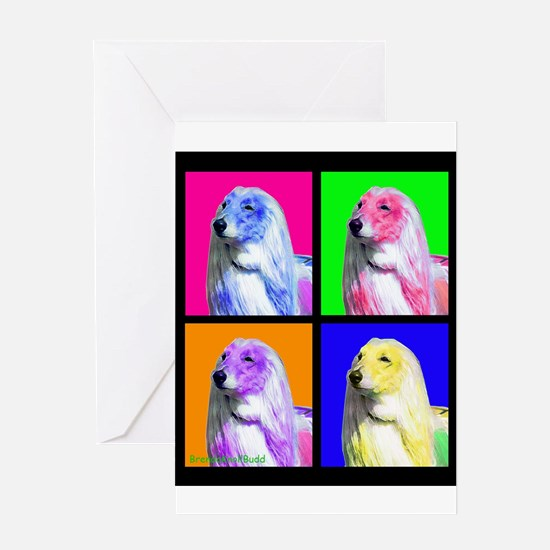 Afghan Hound Pup Art Greeting Cards