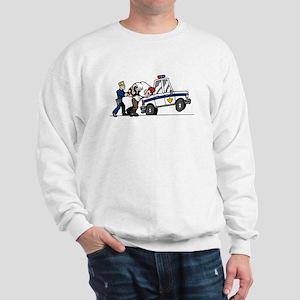 Cop Arresting Bad Guy Sweatshirt