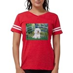 5.5x7.5-LilyBrdg-Bichon1 Womens Football Shirt
