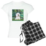 5.5x7.5-LilyBrdg-Bichon1 Women's Light Pajamas