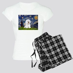 J-ORN-Starry-Bichon1 Women's Light Pajamas