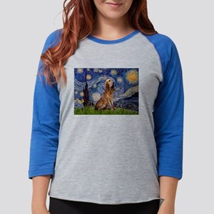 5.5x7.5-Starry-Bloodhound Womens Baseball Tee