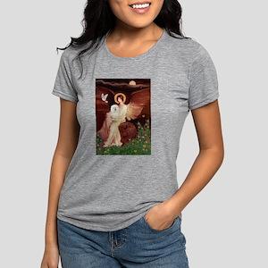 TILE-ANGEL1-Bolognese2 Womens Tri-blend T-Shir