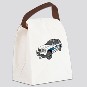 Police Car Canvas Lunch Bag