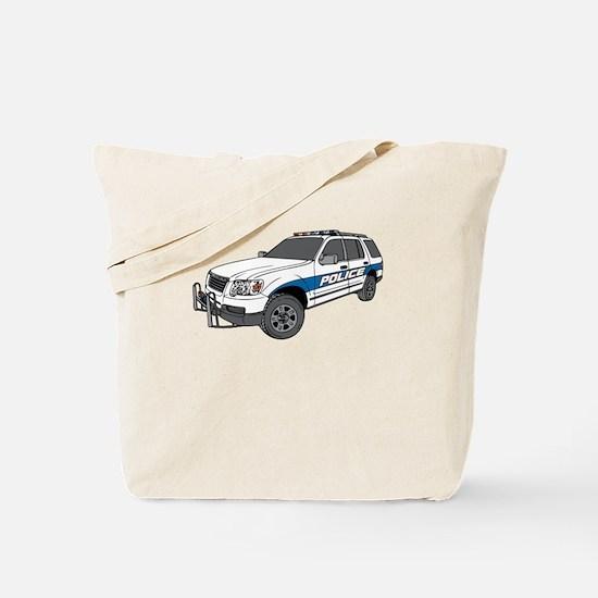 Police Car Tote Bag
