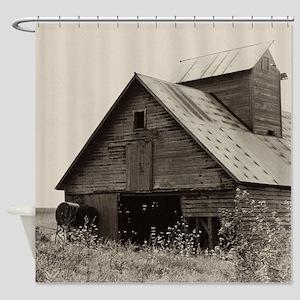 Old Iowa Farm Barn Shower Curtain
