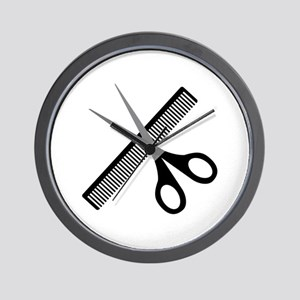 scissors & comb Wall Clock