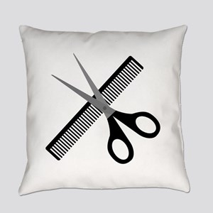 scissors & comb Everyday Pillow