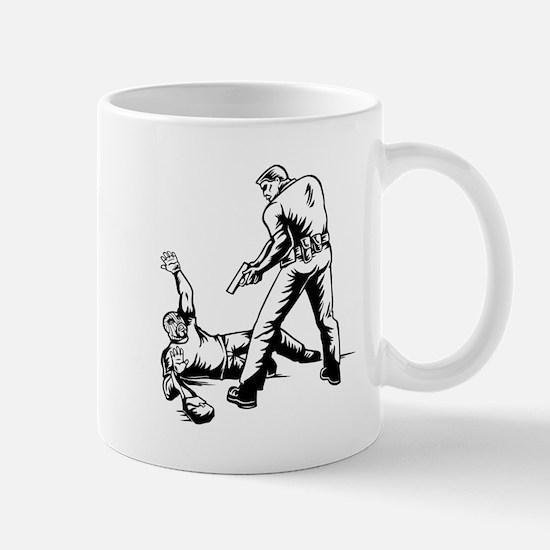 Police Arresting Robber Mugs