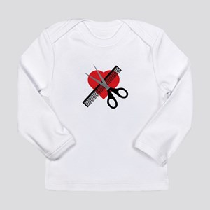 scissors & comb & heart Long Sleeve T-Shirt