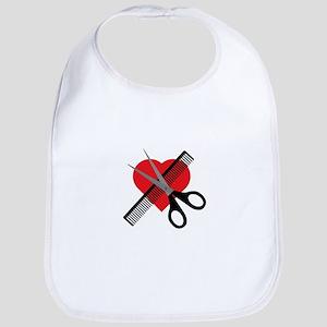 scissors & comb & heart Bib