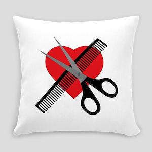 scissors & comb & heart Everyday Pillow