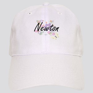 Newton surname artistic design with Flowers Cap
