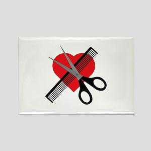 scissors & comb & heart Magnets