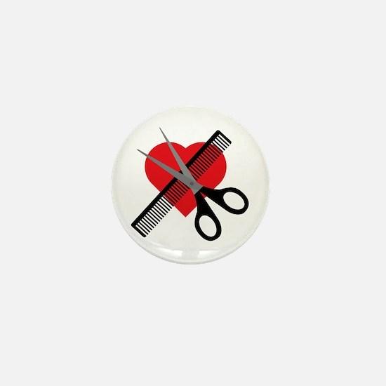 scissors & comb & heart Mini Button