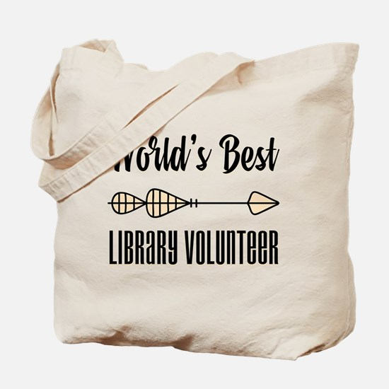 World's Best Library Volunteer Tote Bag