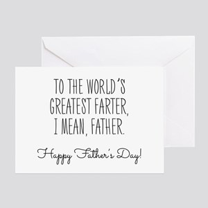 Worlds best dad greeting cards cafepress worlds greatest farter fathers day greeting ca m4hsunfo