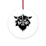 Viking Brute Round Ornament
