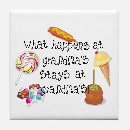 What Happens at Grandma's... Tile Coaster