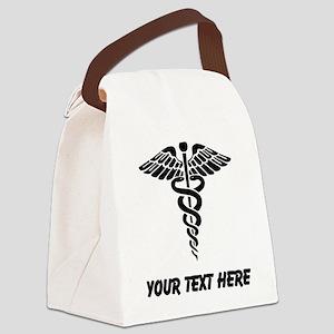 Medical Caduceus (Custom) Canvas Lunch Bag