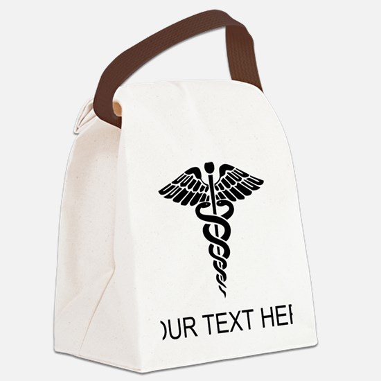 Medical Caduceus (Custom) Canvas Lunch Bag