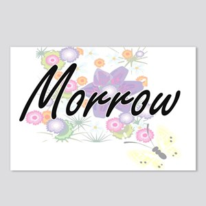 Morrow surname artistic d Postcards (Package of 8)
