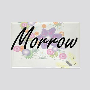 Morrow surname artistic design with Flower Magnets