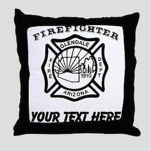 Glendale Arizona Firefighter (Custom) Throw Pillow
