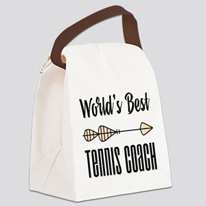 World's Best Tennis Coach Canvas Lunch Bag