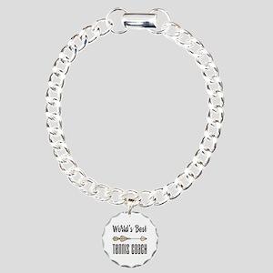 World's Best Tennis Coac Charm Bracelet, One Charm