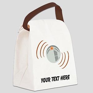 Smoke Alarm (Custom) Canvas Lunch Bag