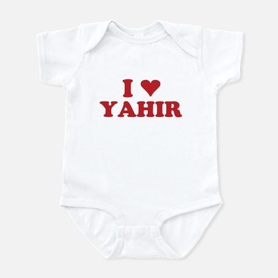 I LOVE YAHIR Infant Bodysuit