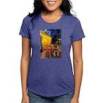 CAFE-BorderT Womens Tri-blend T-Shirt