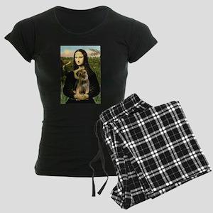 MONA-BorderT1 Women's Dark Pajamas