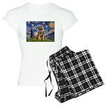 MP-Starry-BorderT1 Women's Light Pajamas