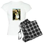 card-Mona-Borzoi1b Women's Light Pajamas