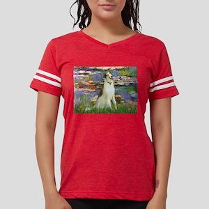 card-Lilies2-Borzoi1b Womens Football Shirt