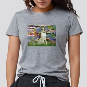 card-Lilies2-Borzoi1b Womens Tri-blend T-Shirt