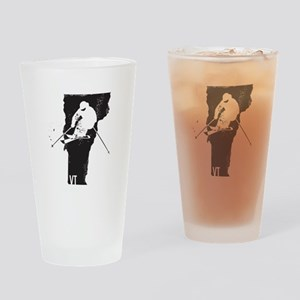 Ski Vermont Drinking Glass