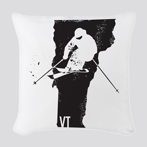 Ski Vermont Woven Throw Pillow