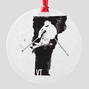 Ski Vermont Round Ornament