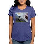 Boston Terrier 3 - Creation of Man Womens Tri-blen