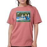 Boston Terrier Sailboats Womens Comfort Colors Shi