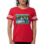 Boston Terrier Sailboats Womens Football Shirt