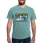 Boston Terrier Sailboats Mens Comfort Colors Shirt