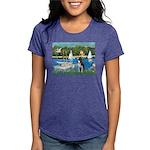 Boston Terrier Sailboats Womens Tri-blend T-Shirt